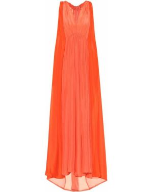Шелковое тонкое платье макси Kalita
