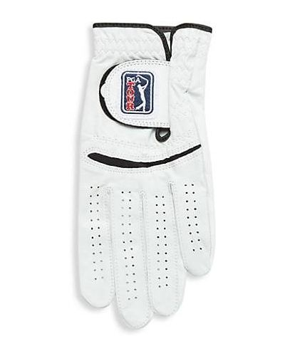 Biały golf skórzany z siateczką Pga Tour