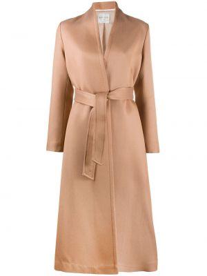Ватное шерстяное длинное пальто с длинными рукавами Forte Forte