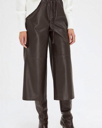 Кожаные коричневые брюки Lime