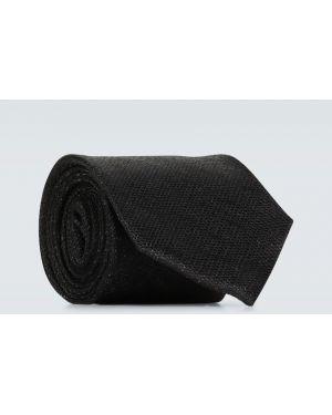 Шелковый классический черный галстук для полных Tom Ford