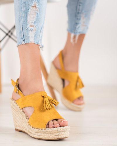Złote sandały z frędzlami Small Swan