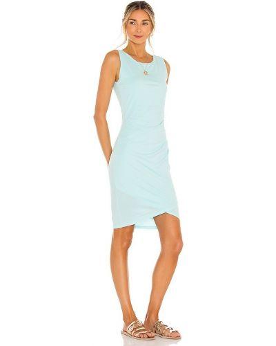 Niebieska sukienka z falbanami bawełniana Bobi