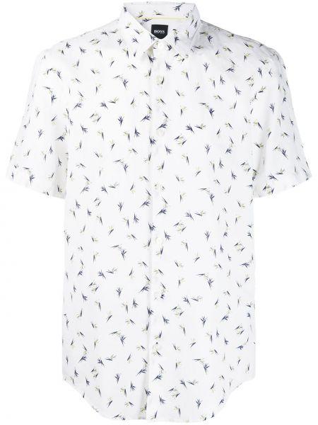 Koszula krótkie z krótkim rękawem klasyczna z kołnierzem Boss