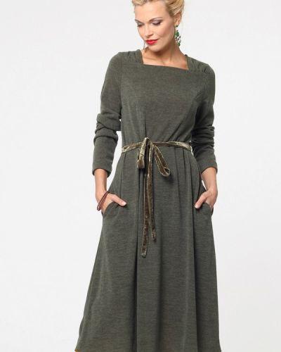 Платье миди осеннее зеленый Kata Binska