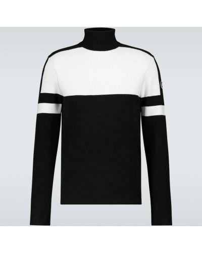 Czarny sweter z wiskozy z długimi rękawami Fusalp