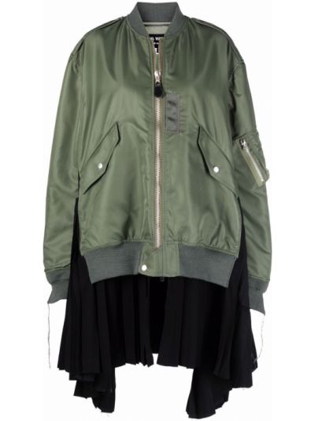 Бомбер длинная - зеленая Junya Watanabe