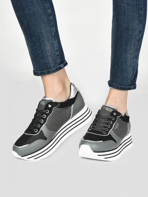 Кроссовки на платформе серые Trussardi Jeans