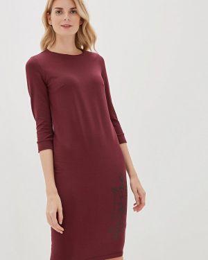 Платье бордовый прямое Vilatte
