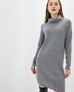 Платье серое вязаное Rodier