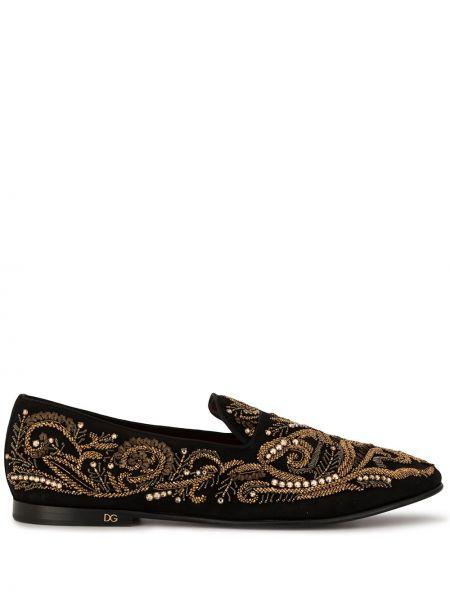 Kapcie czarny na pięcie Dolce And Gabbana