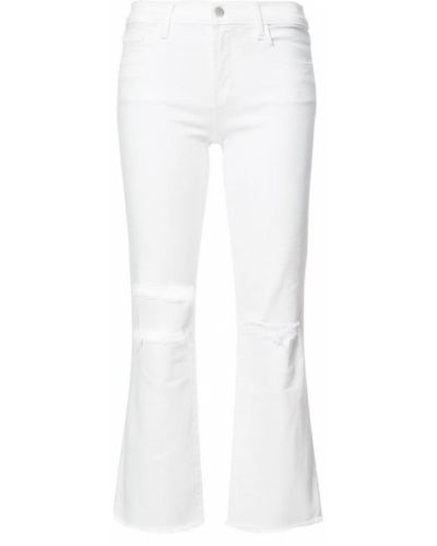 Укороченные джинсы рваные J Brand