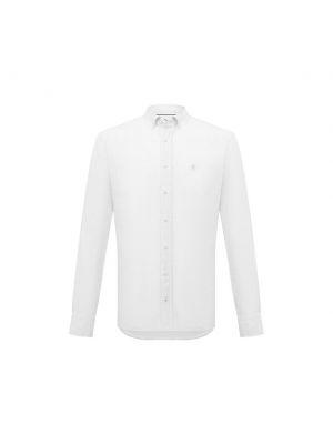 Льняная белая рубашка Bogner