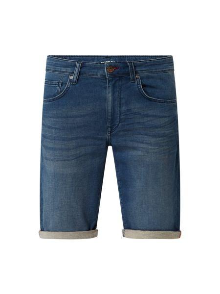 Niebieskie bermudy jeansowe bawełniane Petrol