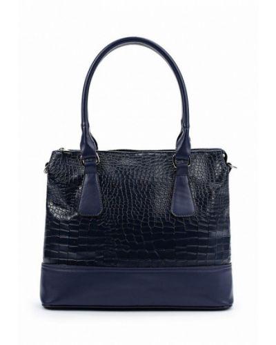 Синяя кожаный сумка медведково
