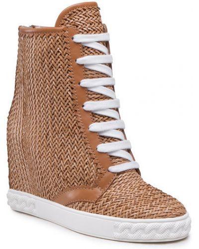 Brązowe sneakersy Casadei