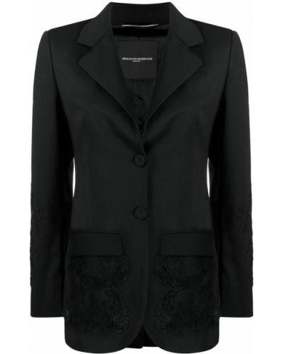 Черный костюмный костюм с лацканами с карманами Ermanno Scervino