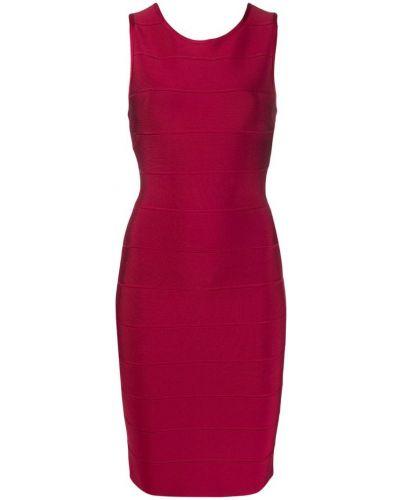 Приталенное платье миди - красное Herv Lger