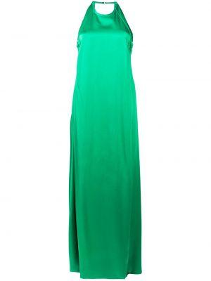 Зеленое вечернее платье из вискозы Rochas