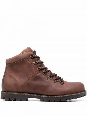 Коричневые ботинки на шнуровке Birkenstock