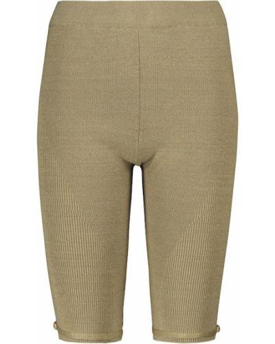Зеленые шорты короткие Jacquemus