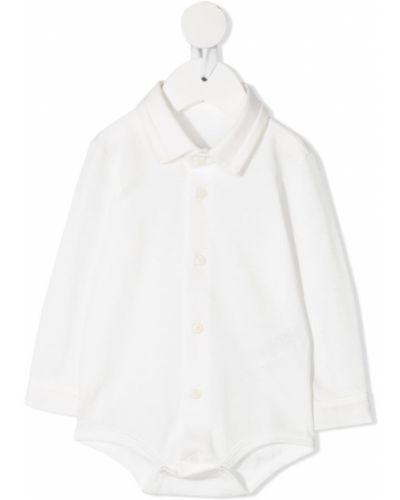 Белое боди с длинными рукавами на пуговицах Il Gufo