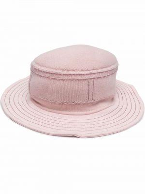 Różowa z kaszmiru czapka Barrie