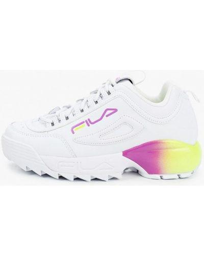Кожаные белые кроссовки Fila