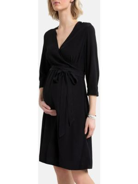 Платье для беременных миди с запахом La Redoute
