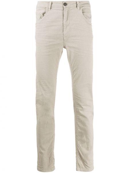 Хлопковые классические брюки на пуговицах узкого кроя Poème Bohémien