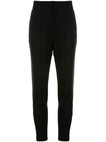 Хлопковые черные зауженные брюки с карманами T By Alexander Wang