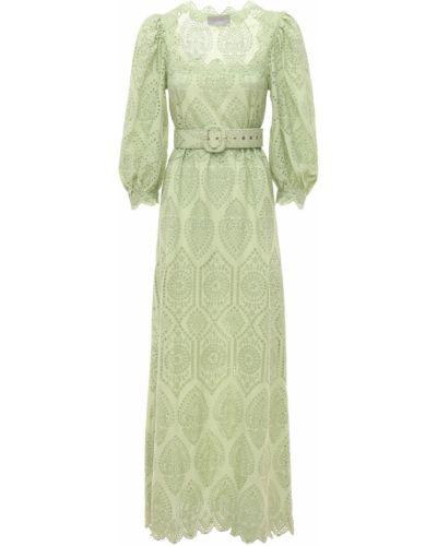 Ватное хлопковое платье макси с поясом Luisa Beccaria