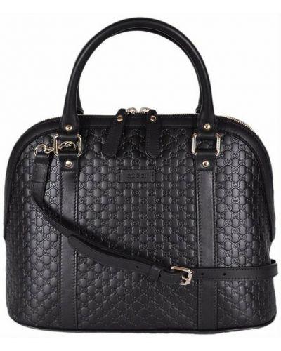 Czarna torba sportowa pikowana elegancka Gucci