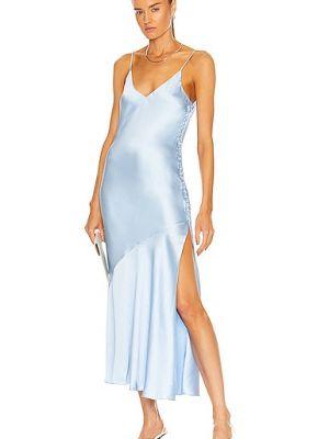 Niebieska satynowa sukienka Atoir