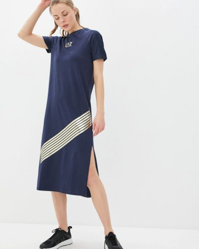 Синее платье Ea7