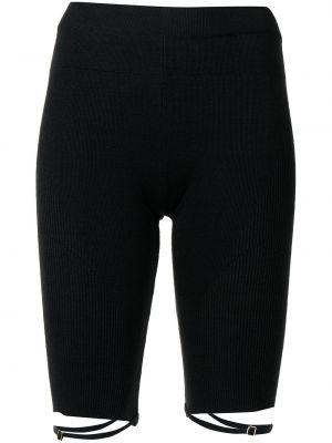 Черные короткие шорты Jacquemus