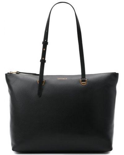 Кожаная сумка шоппер Coccinelle