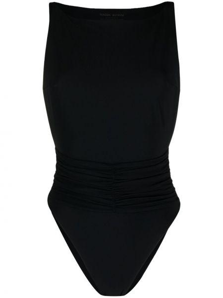 Черный купальник с шортами с оборками с вырезом Magda Butrym