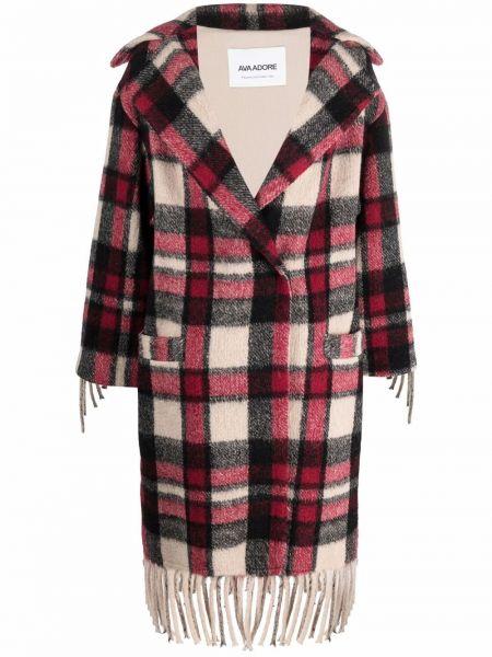 Красное пальто с потайной застежкой Ava Adore