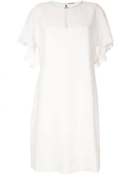 Biała sukienka mini krótki rękaw Elie Tahari