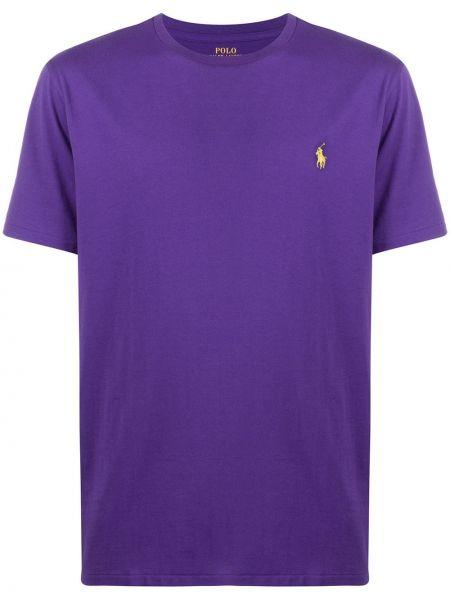 Koszula krótkie z krótkim rękawem z logo fioletowy Polo Ralph Lauren