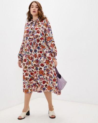 Бежевое повседневное платье Elena Miro
