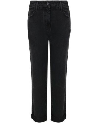 Укороченные джинсы с эффектом потертости с подворотами J Brand