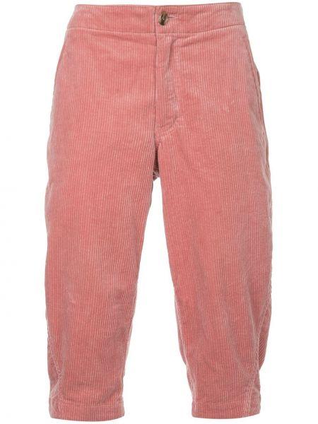 Розовые шорты с карманами с высокой посадкой на молнии Comme Des Garçons Pre-owned