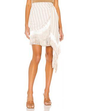 Плиссированная шелковая юбка мини на молнии с подкладкой L'academie