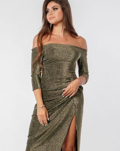 Вечернее платье осеннее золотой Margo