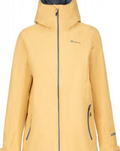 Прямая желтая нейлоновая куртка на молнии Outventure