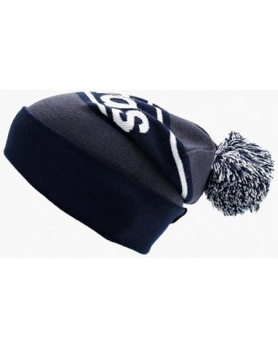 Синяя шапка с помпоном Adidas
