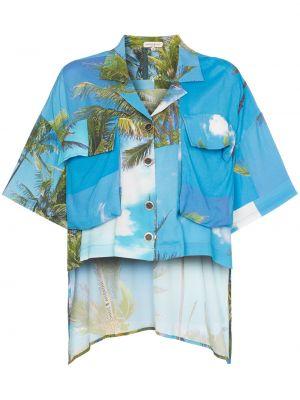 Рубашка из вискозы - синяя Natasha Zinko