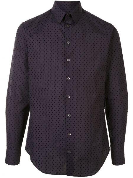 Koszula z długim rękawem klasyczna karmazynowy Giorgio Armani